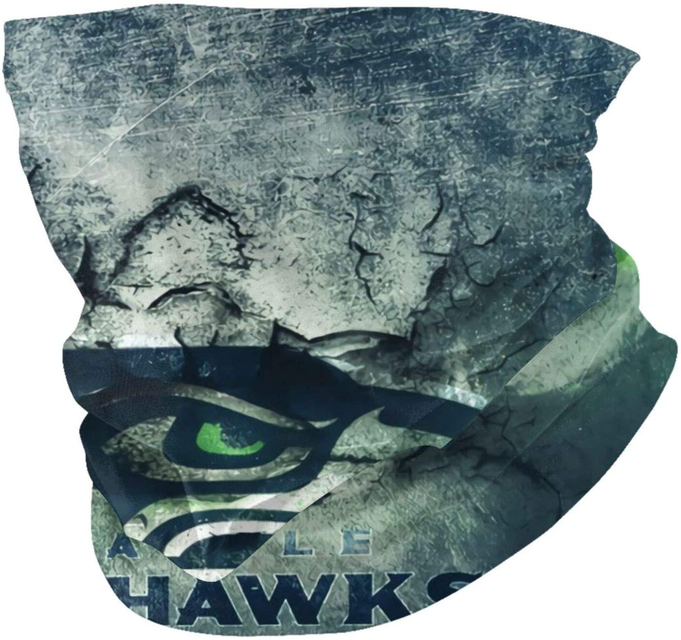ALHOKLAus Football Seattle Seahawk Neck Gaiter, Variety Face Towel Inner Bag, Face Cover Scarf Protection Neck Have Inner Pockets,Face Mask Inner Bag for Men,Women(2 Packs)