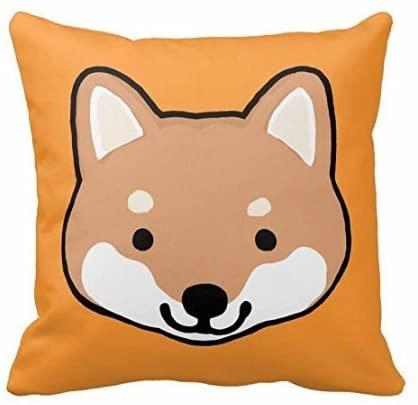 EHSALEstore Shiba Inu Dog Faces 18x18 Inch Square Throw Pillowcase Decor Cushion Cover
