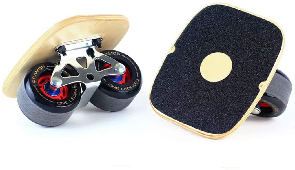 Skateboard Drift Board, Split, 7-Layer Canadian Maple Drift Skates, 3mm Thick Bracket, with 72mm high Elastic PU Wheels and Acceleration Bearings