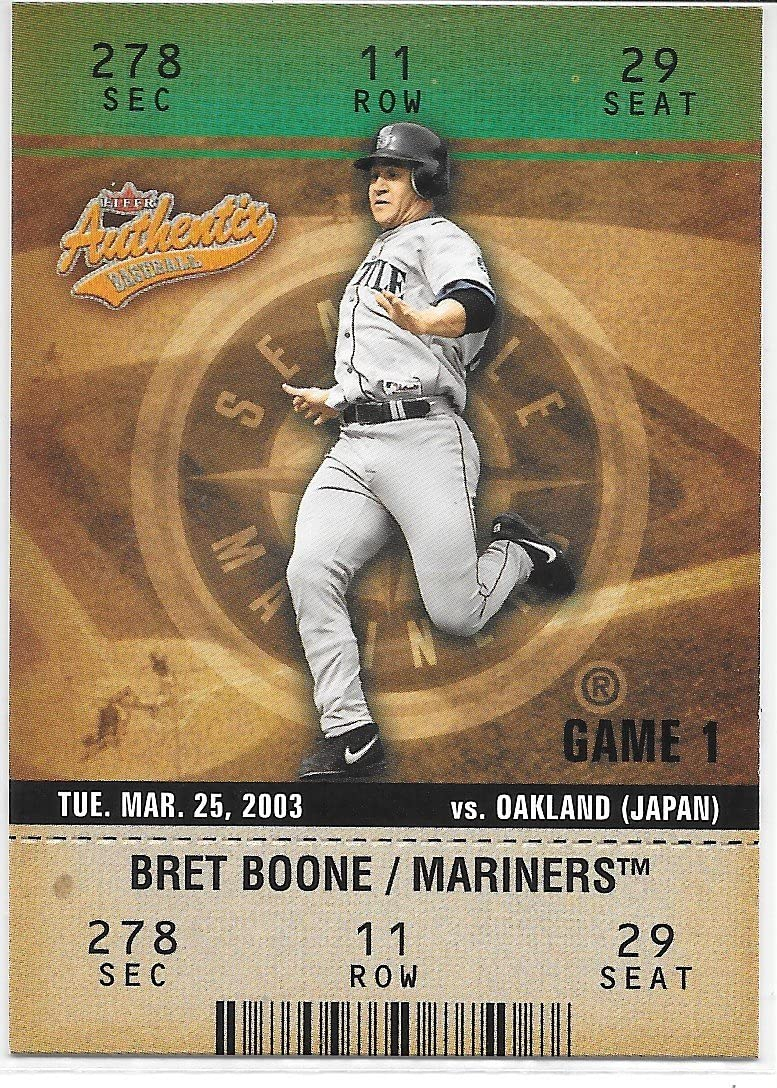 Bret Boone 2003 Fleer Authentix Seattle Mariners Card #54