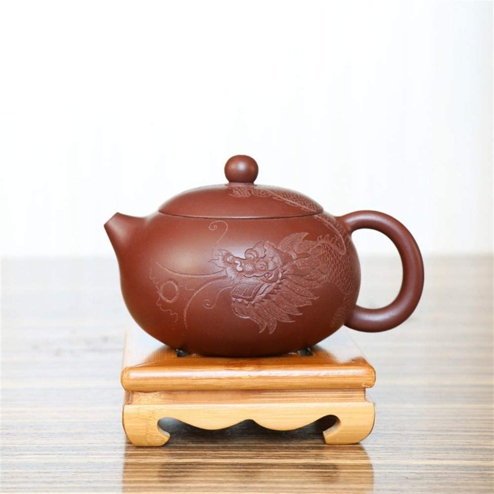 SHENLIJUAN teapot tea boutique handmade purple clay ore old Shih Tzu Dragon Teapot (Color : Purpel mud)