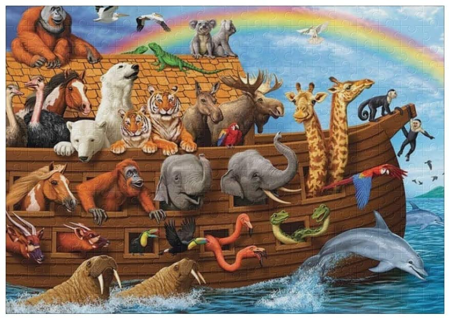 Animal Voyage 300 Pieces Jigsaw Puzzle (15 in x 10 in) Toy for Adults Kids Educational Gift Home Decor