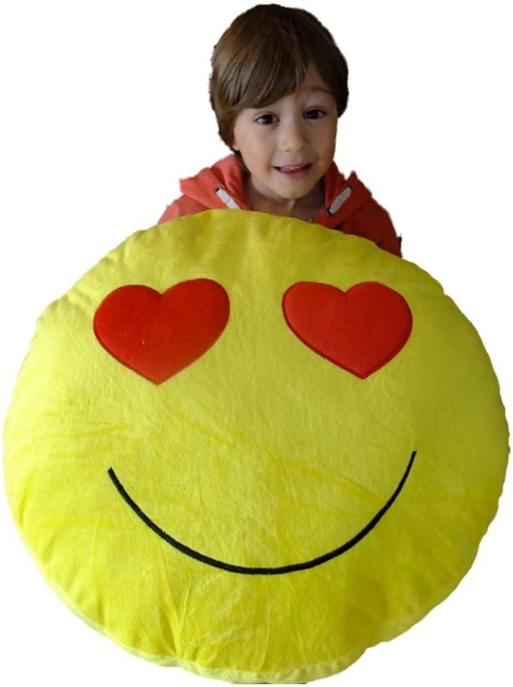 Emoticons Huge Giant Massive Goofy Emoji Cushion Pillow 50cm 20 (Heart Eyes)