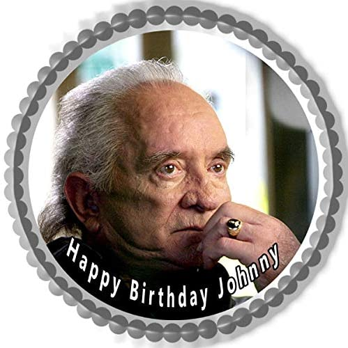 Johnny Cash - Edible Cake Topper - 6 round