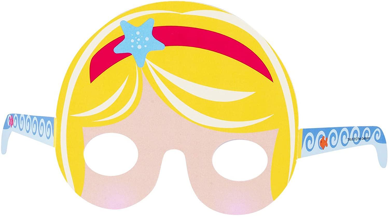 BirthdayExpress Mermaid Tiara Party Favors - Photo Prop Masks (8)