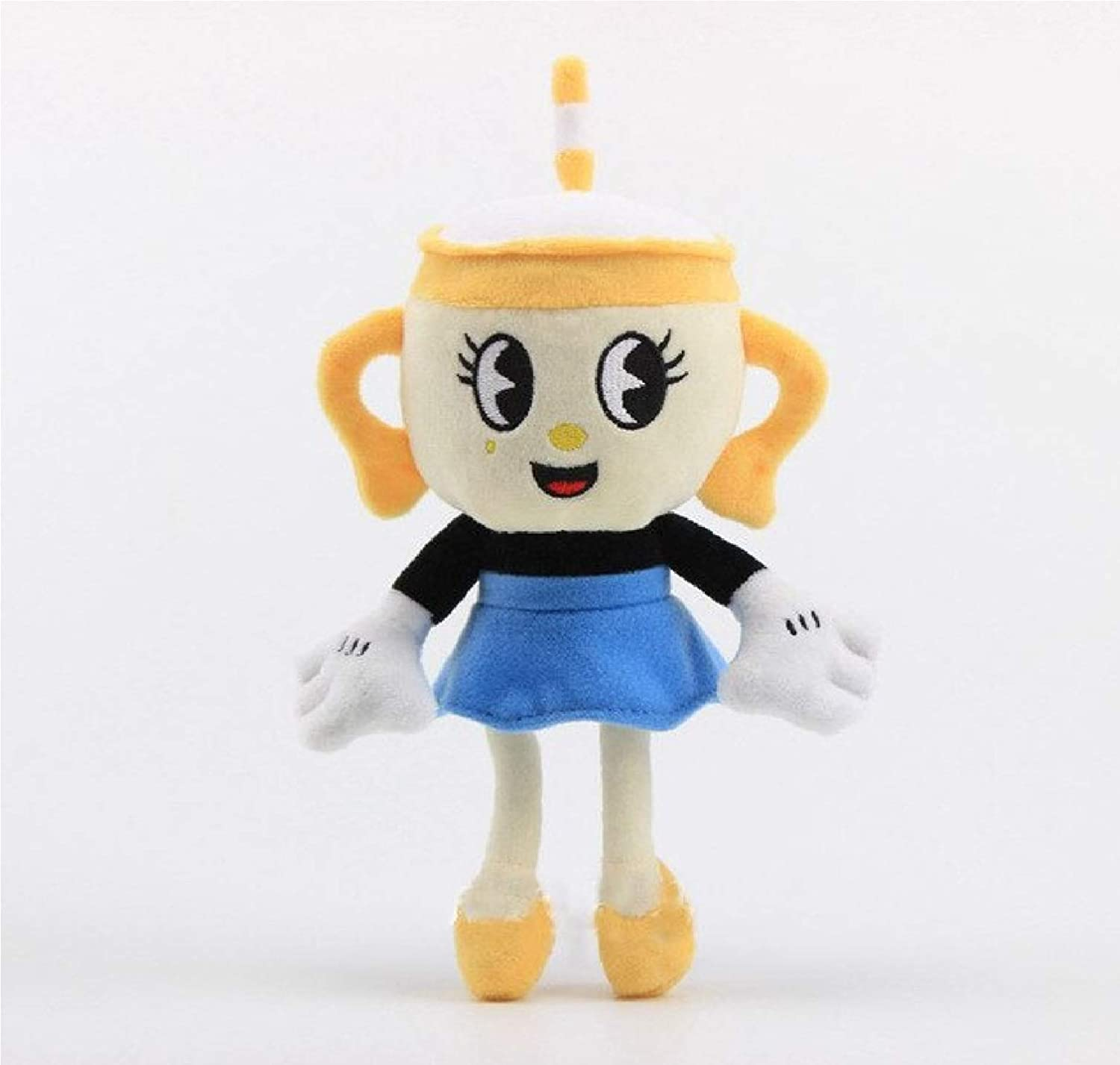 Cuphead Plush Toy | Cuphead Toy Mugman Ms. Chalice Ghost King Dice Cagney Carnantion Puphead Dolls Toys for Children Gifts - by Gifts For Life (Ms. Chalice 23cm)