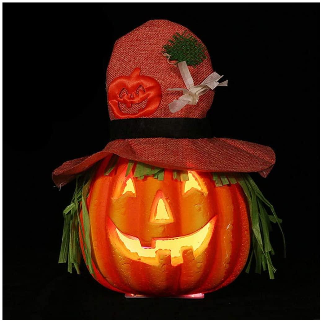 Erwazi Halloween Decorations, Halloween Decoration Halloween Lights Indoor Night Halloween Pumpkins Pumpkin Lantern, Vintage Portable Tree Window Decorations (Multicolor B)