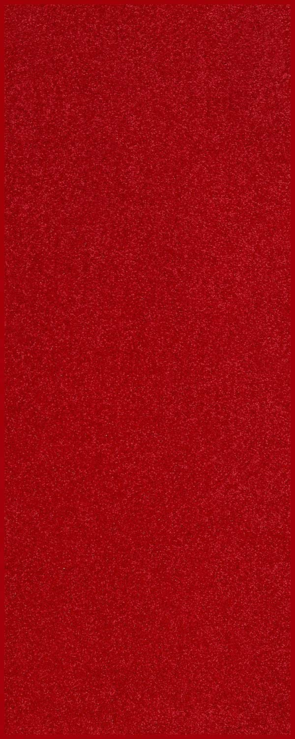 Home Queen Solid Color Custom Size Runner Area Rug Red, 2' x 3'