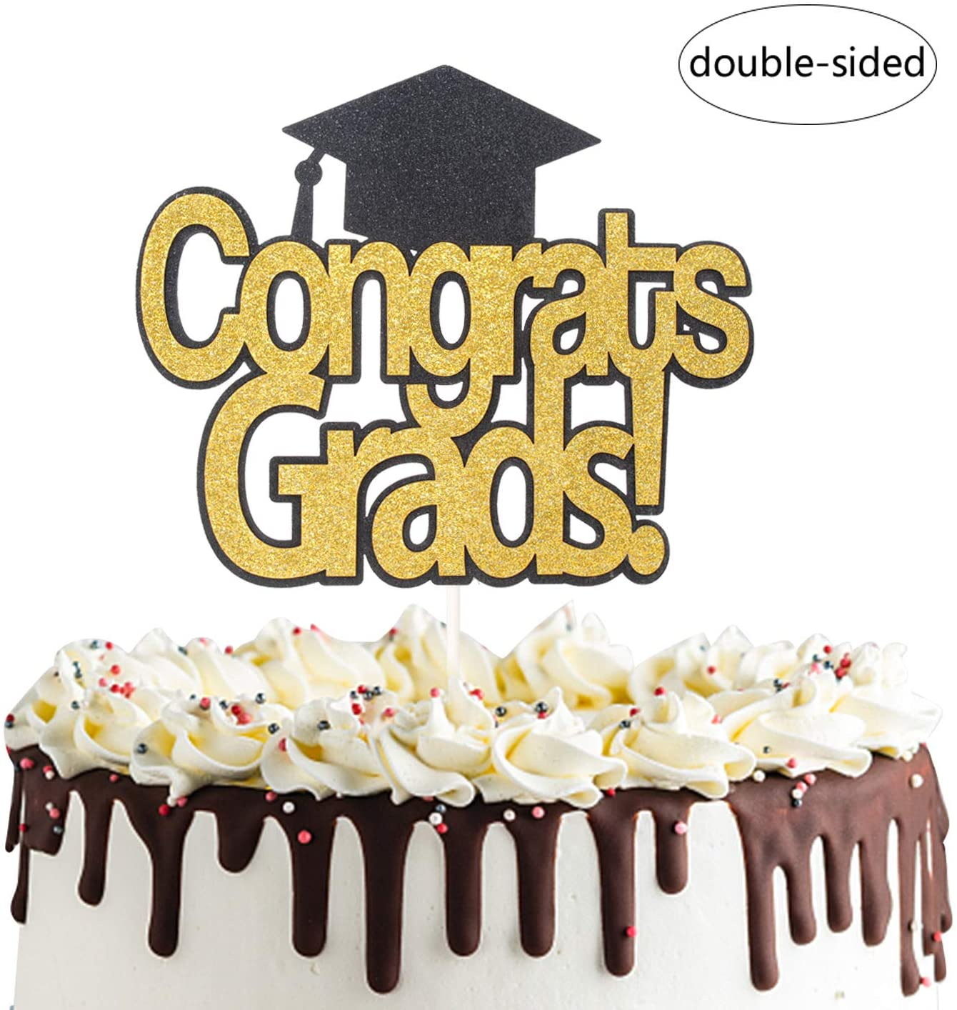 Congrats Grad Cake Topper for Class of 2020 Graduation Photo Prop High School Graduation Party Decorations