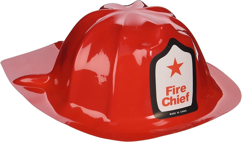 Fun Express Rhode Island Novelty Plastic Firefighter Chief Hat (Set of 12)