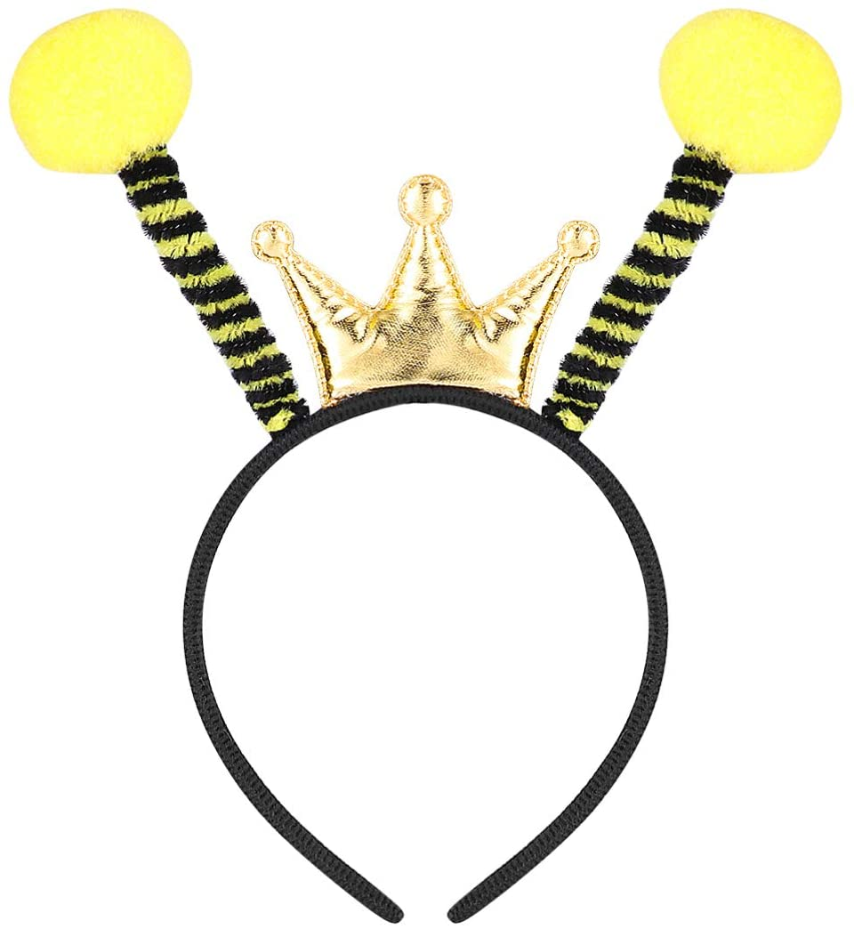 KESYOO Bee Headbands Bee Antenna Hair Band Ant Fly Ladybug Headband Fancy Dress-up Costume for Halloween Birthday Christmas Party Supplies 2PCS