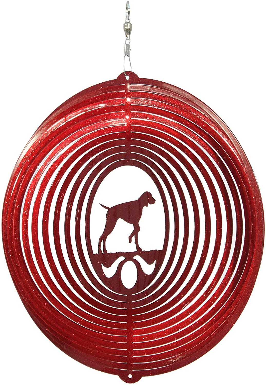 SWEN Products Vizsla Circle Swirly Metal Wind Spinner