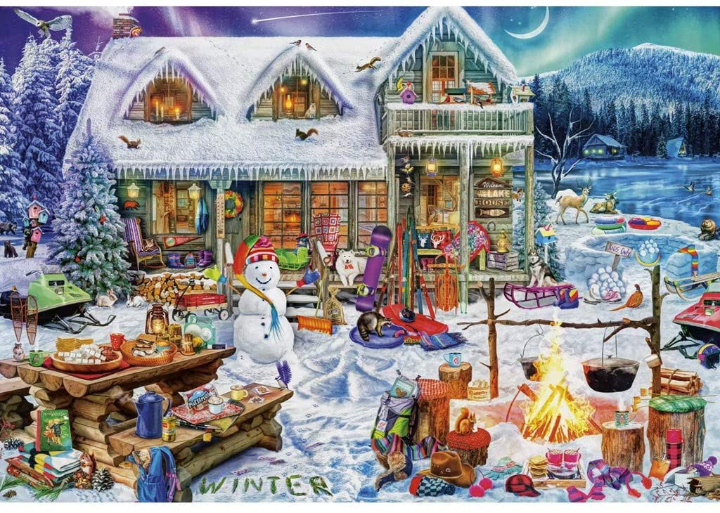 1000 Piece Puzzles for Kids Adults, Adult Puzzles Premium Quality Jigsaw Puzzle – Family Puzzles Educational Games - Halloween Characteristic