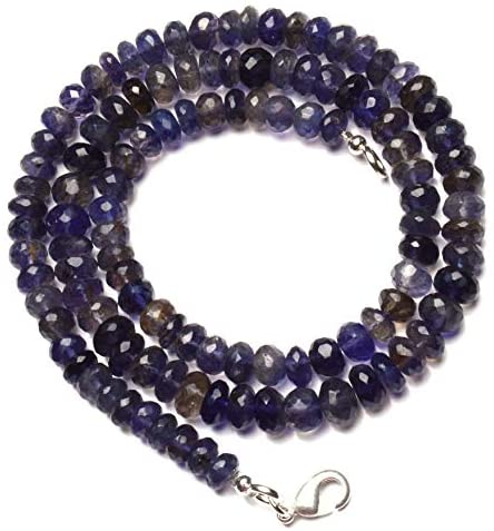 19 inch Strand Natural Iolite 6-7 mm rondelle Faceted Beads for Jewelry Making - Natural Gemstone Iolite Faceted 6 to 7mm rondelle Beads 19 inch Full Strand Complete Necklace Water Sapphire