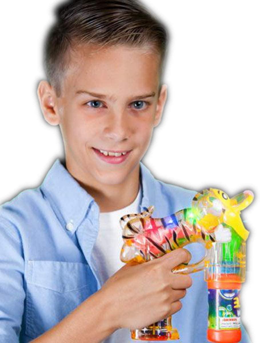 blinkee Light Up Terrific Tiger Bubble Gun by