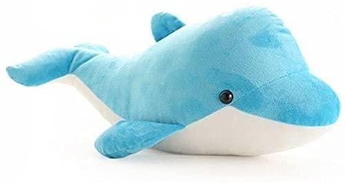 Yepmax Plush Toys Cartoon Dolphin Stuffed Animals 15.7 Inch Blue