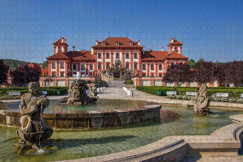 Jigsaw Puzzle for Adults Czech Tri Prague Park Puzzle 1000 Piece Wooden Travel Souvenir