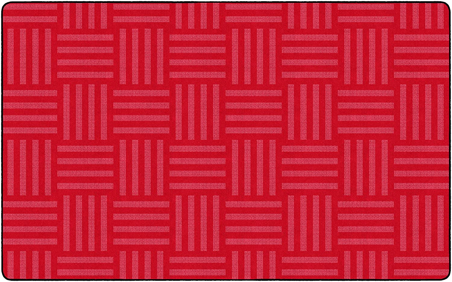 Flagship Carpets FE385-44A Hashtag Tone on Tone Cherry (Seats up to 30), Childrens Classroom Rug, Rectangle, 76x12