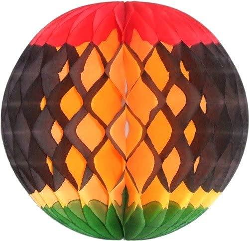 3-Pack 8 Inch Kwanzaa Decoration Honeycomb Tissue Balls