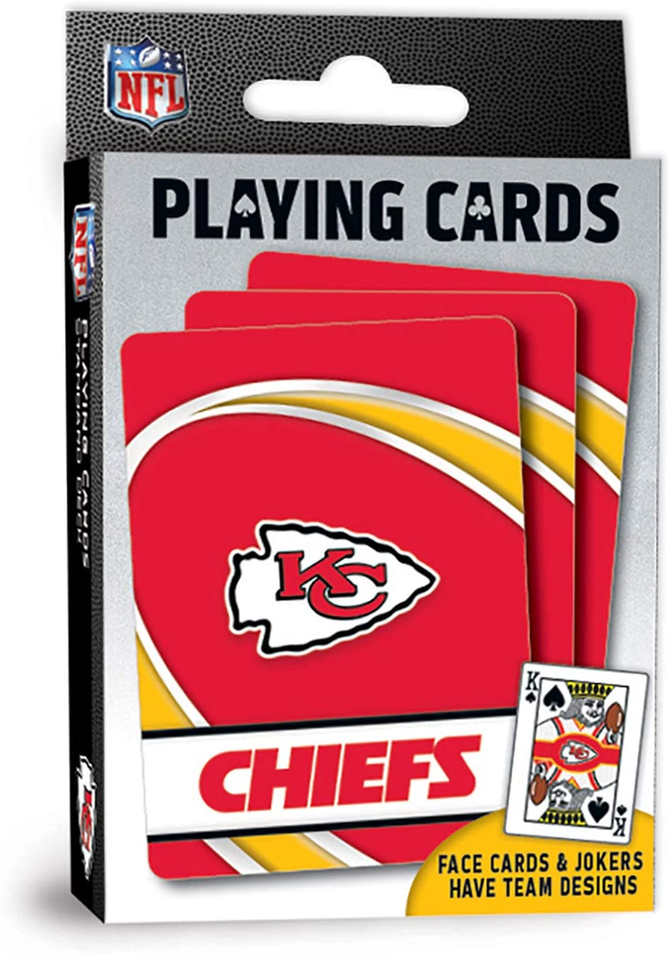 MasterPieces NFL Kansas City Chiefs Playing Cards, 2.5