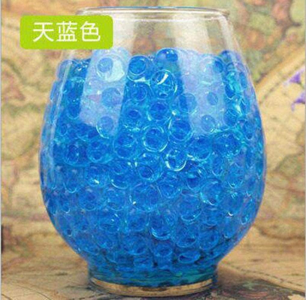 300-6000Pcs Water Pearl Mud Crystal Water Beads Jelly Gel Ball Grow Jelly Balls,Lake Blue,3000Pcs