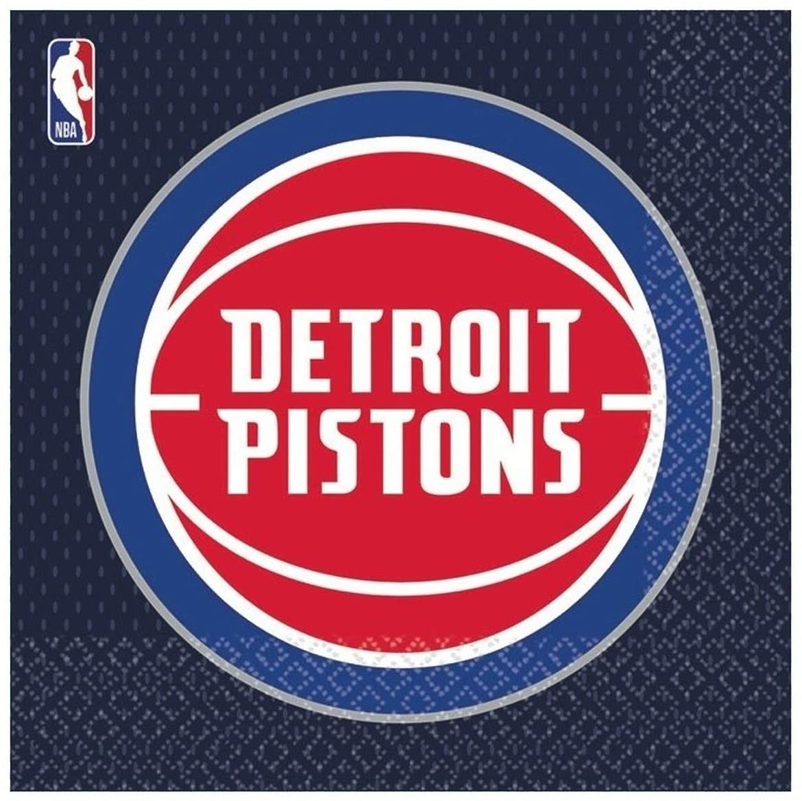 Amscan 5136141 Detroit Pistons NBA Collection Luncheon Napkins, 16ct