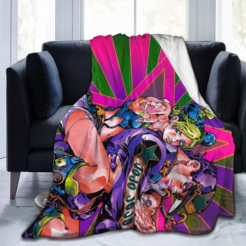 Darkt JoJo's Bizarre Jolyne Josuke Adventure Flannel Air Conditioning Blanket Warm Throw Blanket Quilt Suitable All Seasons for Couch Bed Sofa 50x40 Inch for Child