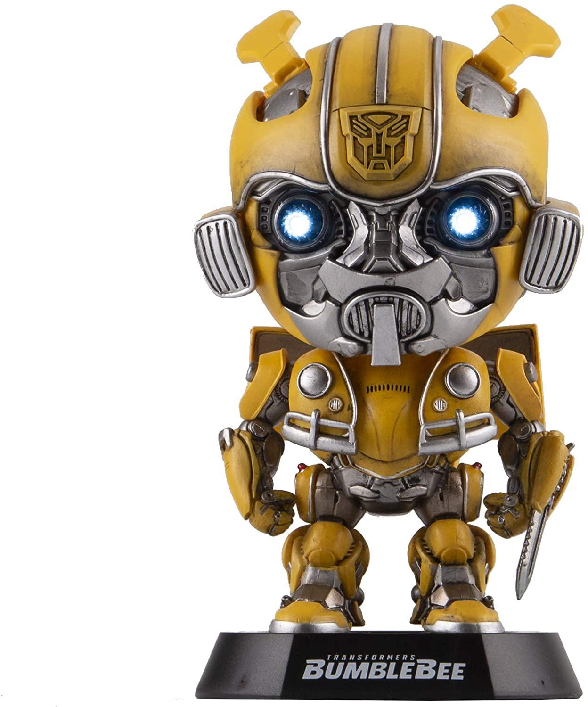 Killerbody Transformers Bumblebee Model kit,Head-Shaking Baby Figurine of Transformers Bumblebee, Car Interior Decoration, Home Decoration (Bumblebee (Sword))