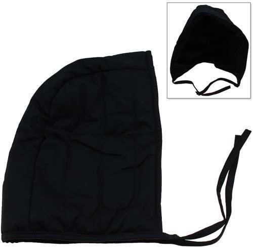 Cotton Padded Coif Arming Cap - Medieval Renaissance Under Armor Black