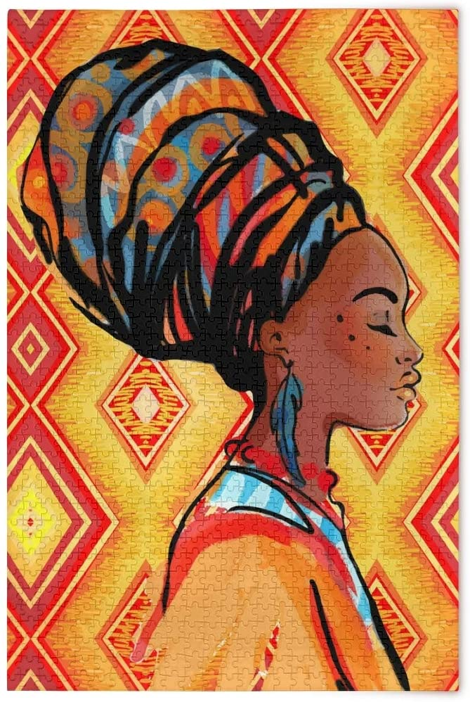 Jigsaw Puzzles 1000 Piece African American Women Toy Games Educational Gift Home Decor for Adults Kids2041916