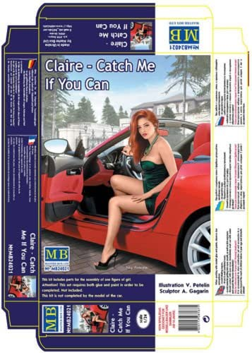 PRETTY NICE GIRLS DANGEROUS CURVES, CLAIRE - CATCH ME IF YOU CAN 1/24 MASTER BOX 24021