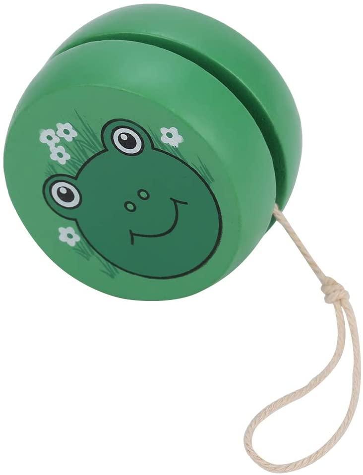 awstroe Yo-Yo, Safe Non-Toxic Durable Toy, Early Educational Toy, Wooden Yo-Yo, for Child for Kid(Frog)