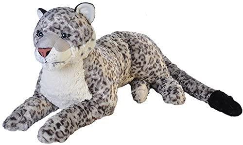 Wild Republic Jumbo Snow Leopard, Giant Stuffed Animal, Plush Toy, 30
