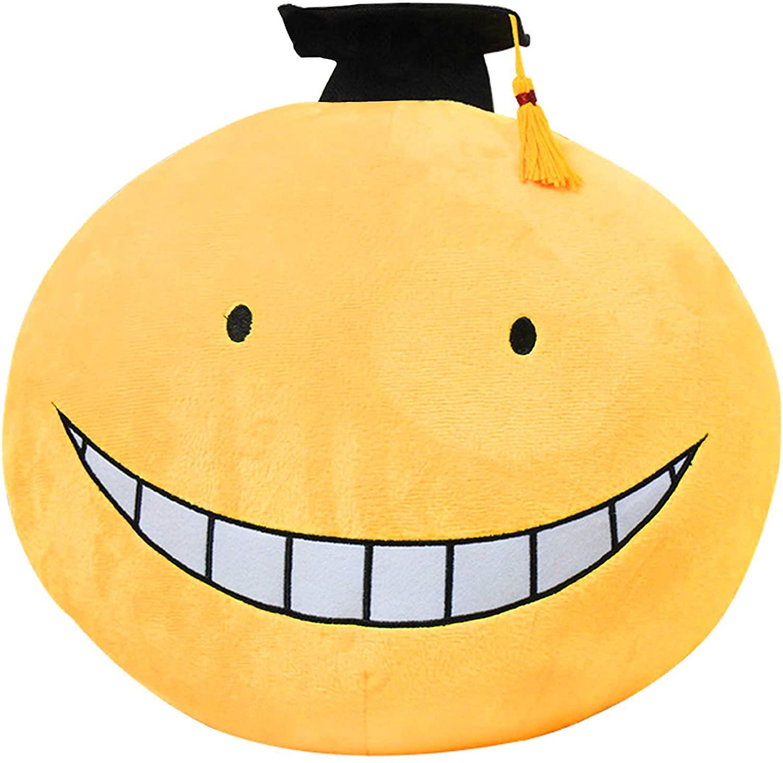Enhopty Classroom- Koro Sensei Plush Toy 11.8in, Funny Octopus Head Stuffed Nap Pillow Doll for Anime Fans