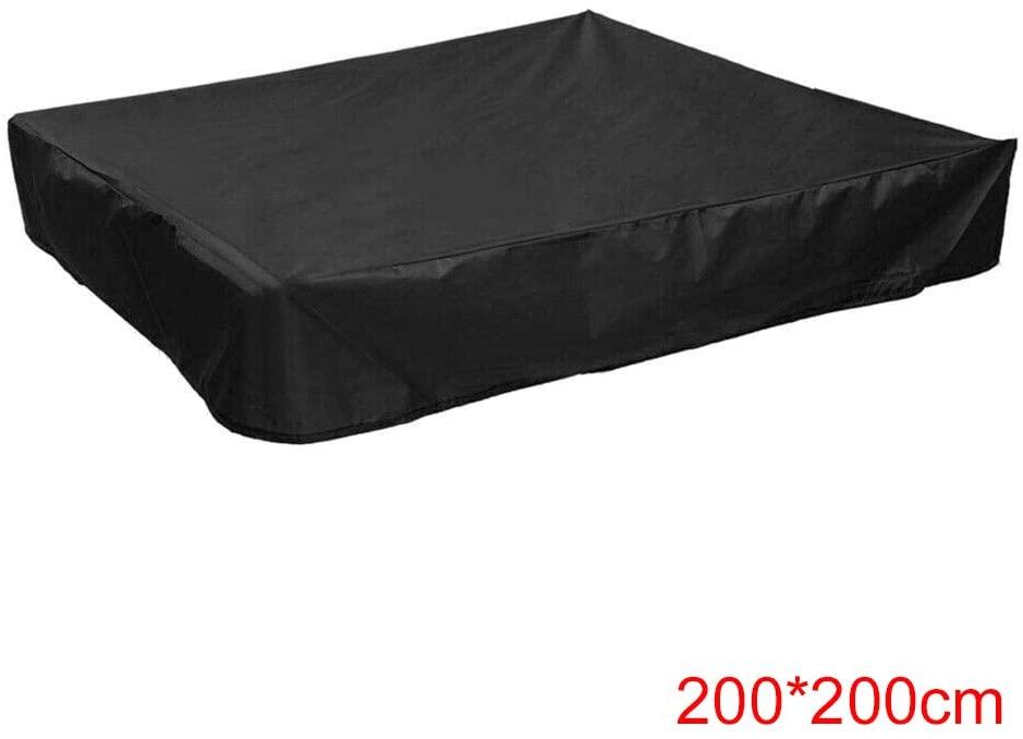 Ablita Sandbox Covers Square Dustproof Protection Sandbox Cover Waterproof Sandpit Pool Cover with Drawstring UV Protection
