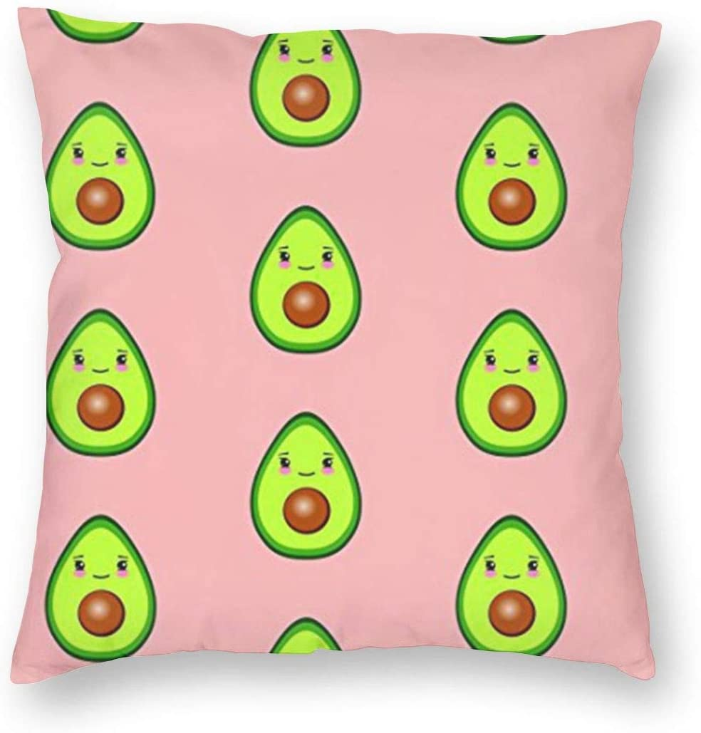 antkondnm Too Much Avocado Home Decor Throw Pillow Cover, Lightweight Soft Plush Square Decorative Pillow Case 18x18 Inch Cushion Cover, Sham Stuffer, Machine Washable