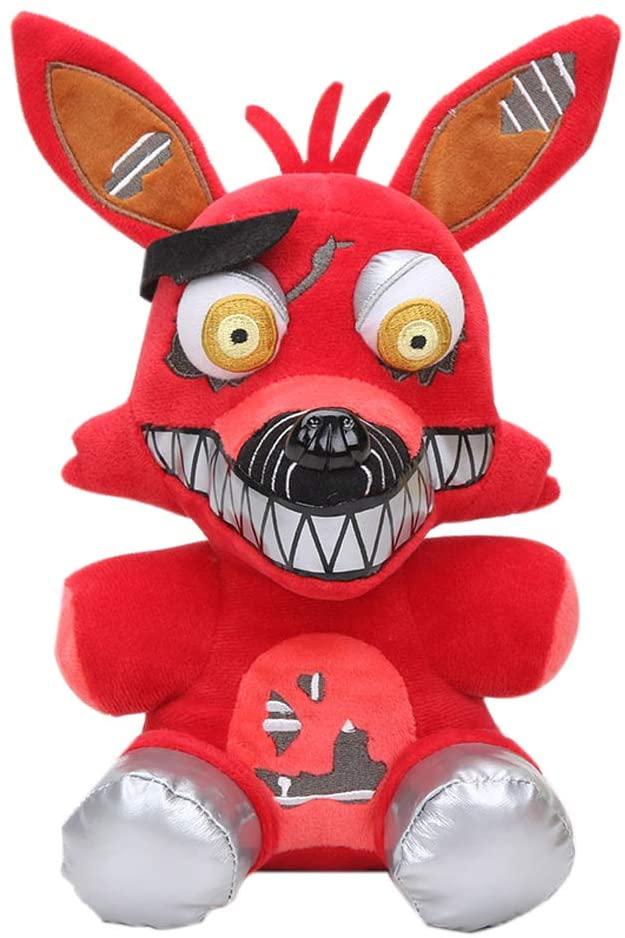 Habiyong FNAF Plushies Full Characters(20cm) Five Nights at Freddy's Plush Freddy, Bear Chica Bonnie Clown Foxy Plush Stuffed Bear FNAF Plush Kid's Toys Gifts for FNAF Fans