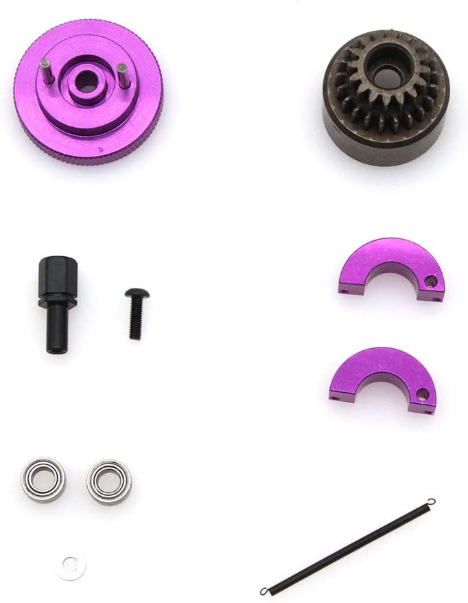 YU-NIYUT 1Set Complete Flywheel Clutch Bell 16T 21T Shoes Spring Ball Bearings Nitro Engine Parts for HSP 1/10 Buggy Truck Truggy, Durable, Fun to Modify, The Choice of RC Lovers