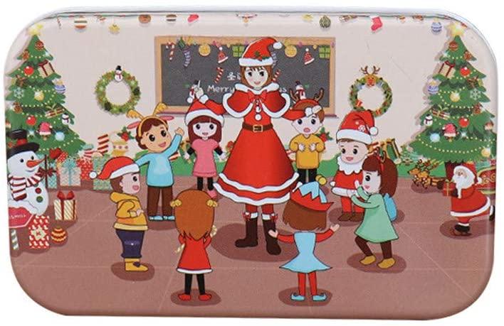 AQ89 Christmas DIY Puzzle 60 Pieces Children's Handmade Santa Claus Puzzle Wooden Toy