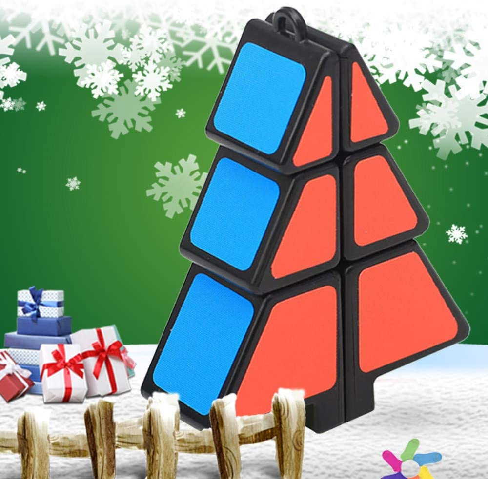 Magic Cube 1X2X3 Christmas Tree Cube Puzzle Ultra-Smooth Magic Puzzle Xmas Gifts Toys and Hobbies Education Toys