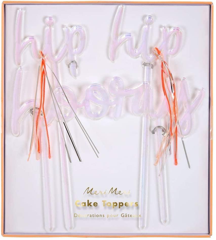 Meri Meri, Hip Hip Hooray Cake Toppers, Cake Decorations, Party Supplies