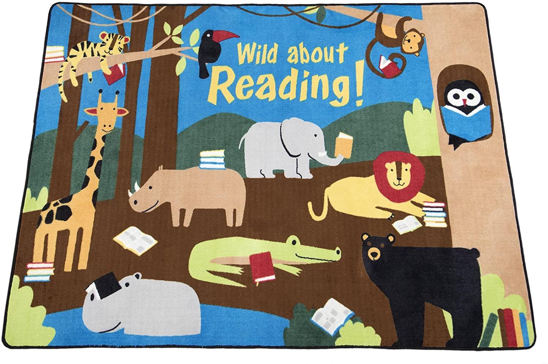 Guidecraft Wild About Reading Carpet 5'4