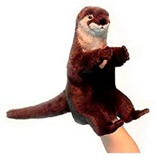 Set of 3 Handcrafted Otter Hand Puppet Stuffed Animals 11