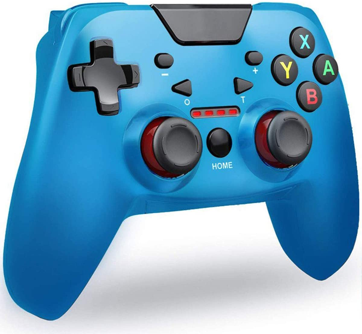 Wireless Bluetooth Game Controller for Nintendo Switch, Supports Gyroscope axis, Turbine and Dual Vibration. (Blue)