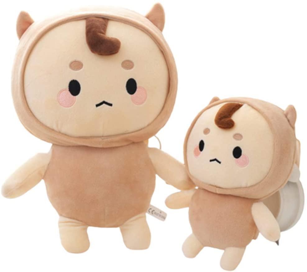XIAOHUI Plush Doll Toy pet Pillow Animal, Korean Fairy Plush Toy Doll, Soft and Cute Animal Plush Doll Toy, Birthday Gift Toy for Children (21.6 inches,Buckwheat Jun)