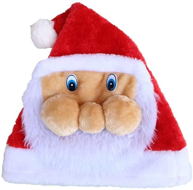 BESTOYARD Cartoon Christmas Hat Brim Xmas Santa Hat Headdress Party Favors Decorations (Santa Claus)