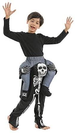 LMYOVE Kids Skeleton Piggyback Costume, Riding Halloween Coustme for Boys&Girls