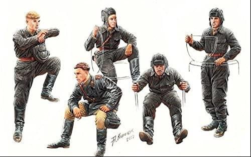 Masterbox Soviet Tank Crew, 1943-1945 5 Figures 1/35 Master Box 3568