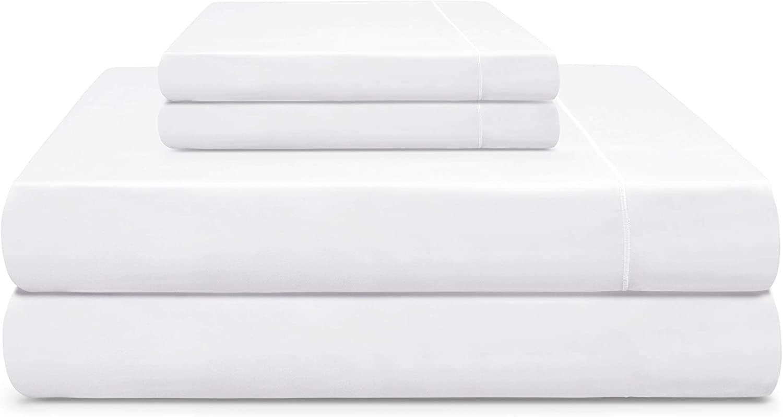Cooling Planet California King 610 TC Sheet Set Extra-Long Staple Sateen Weave 100% Pima Cotton 18