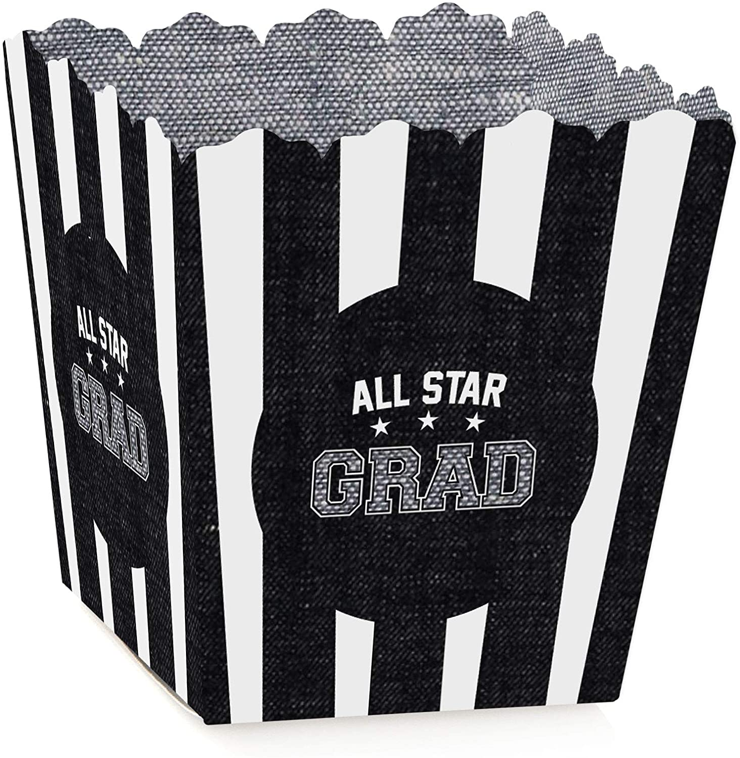 Big Dot of Happiness All Star Grad - Party Mini Favor Boxes - Graduation Party Treat Candy Boxes - Set of 12